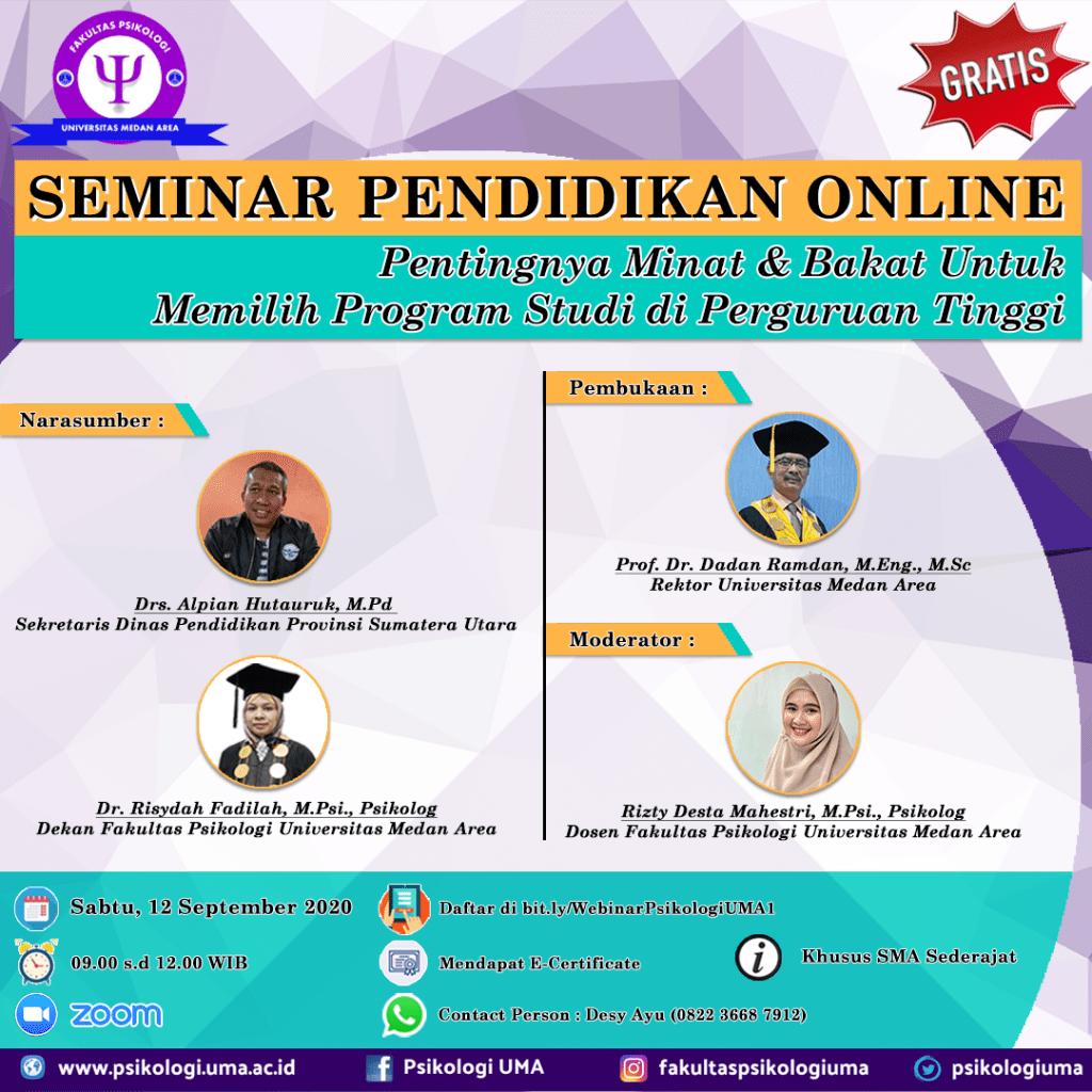 Daftar Seminar Pendidikan Online