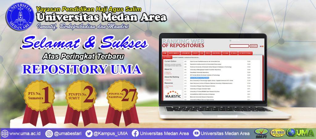 selamat dan sukses atas peringkat terbaru repository uma