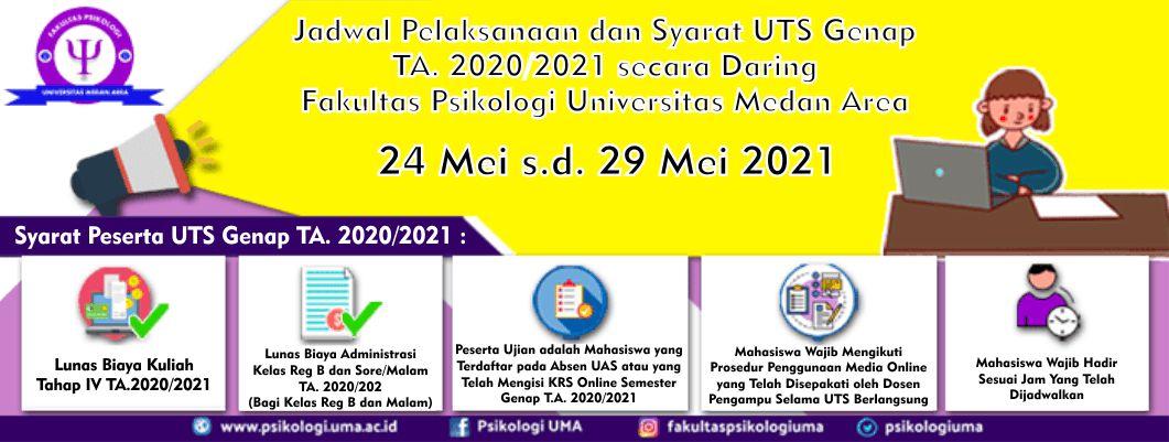 Jadwal Pelaksanaan Ujian Tengah Semester Genap T.A 20202021 Secara Daring